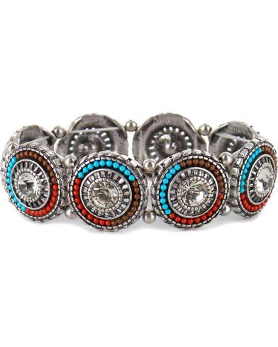 Shyanne Women's Beaded Pendant Link Bracelet - Country Outfitter