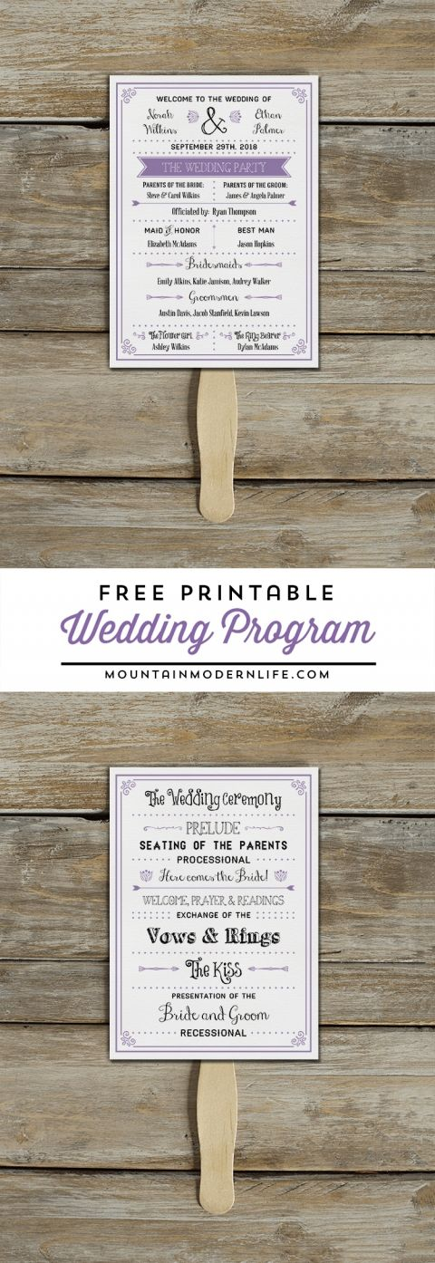 wedding planning checklist spreadsheet free%0A FREE Printable Vintage Inspired Wedding Program Template    MountainModernLife com