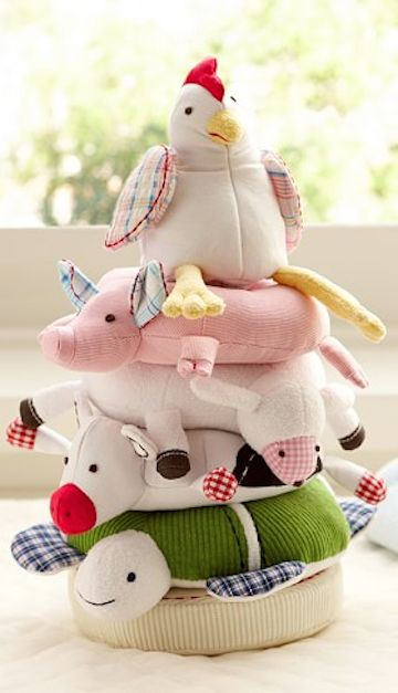 farm animal stacking stuffed animals http://rstyle.me/n/t2euvr9te