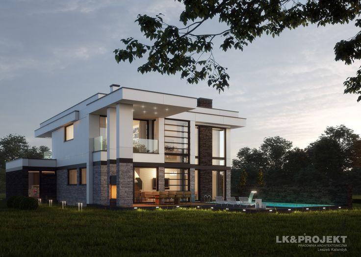 LK&1308   #project #houseproject #house #modern #architecture #polisharchitecture #homesweethome #singlefamilyhouse #exterior #build #dreamhome #dreamhouse #design #villa #residence