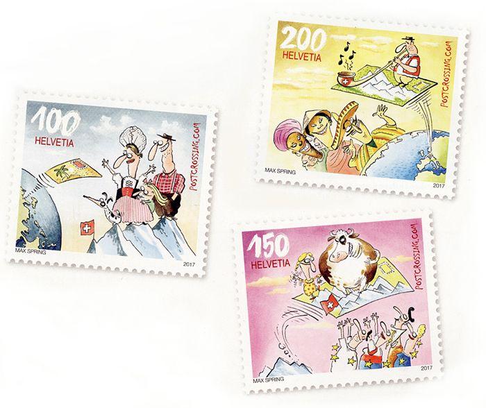 Postcrossing stamp from Switzerland