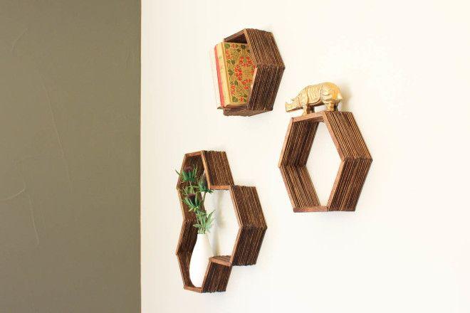 Como fazer nichos para a parede usando palitinhos de picolé!