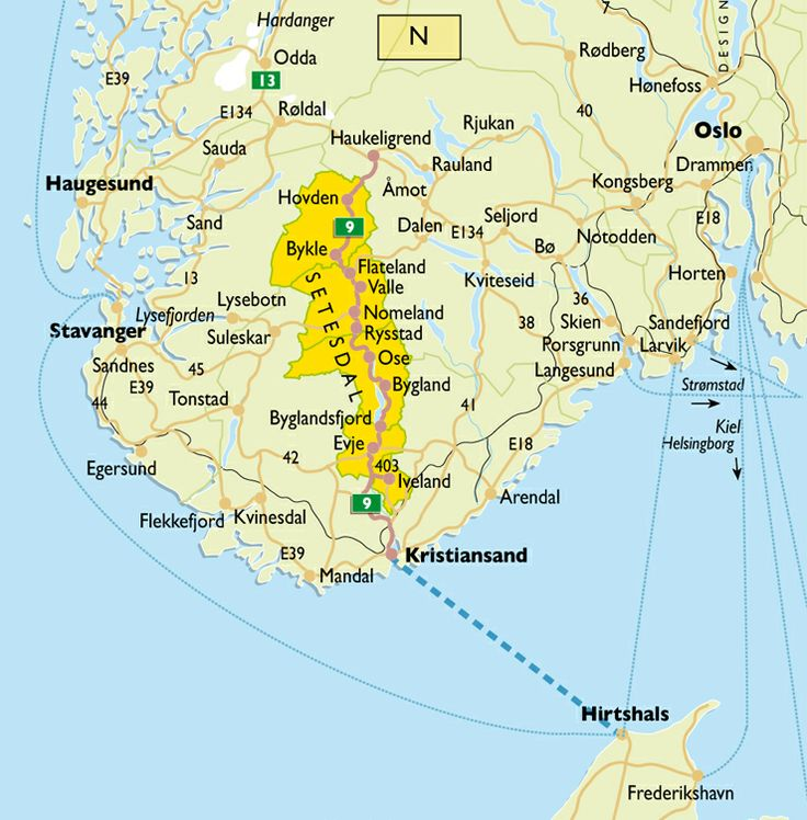 Setesdal Norway Map Getting To Setesdal Between East And West - Norway map sandefjord