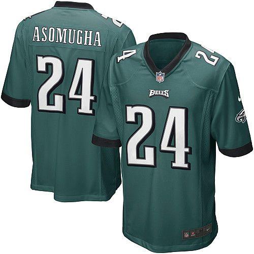2012年耐克球衣的费城老鹰队的第24纳姆迪Asomugha绿衫