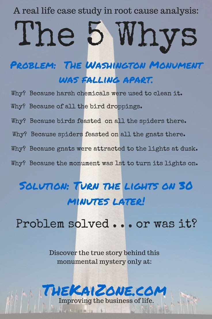 root cause analysis  5 whys  5 whys washington monument  5