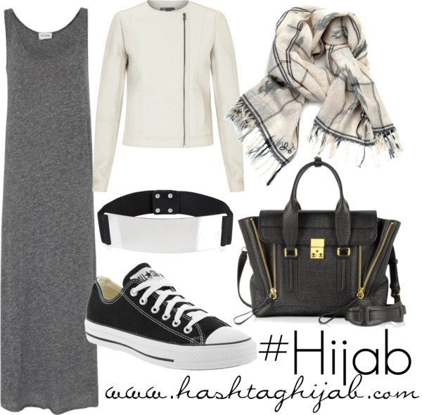 Hashtag Hijab Outfit #130. I can't help it: I love converse: