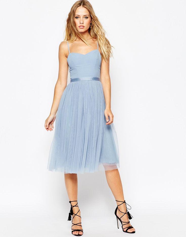 Needle+&+Thread+Giselle+Ballet+Midi+Dress+With+Tulle+Skirt