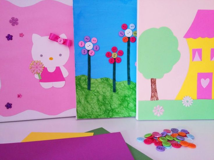 DIY Wall Art for girls bedrooms - DIY Κάδρα για κοριτσίστικα δωμάτια  - VioletMimosa.com