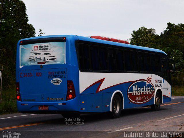 Ônibus da empresa Martins Rent a Car, carro 19211088, carroceria Marcopolo Ideale 770, chassi Volkswagen 17.230 EOD. Foto na cidade de Manaus-AM por Gabriel Brito da Silva, publicada em 22/09/2016 10:56:29.