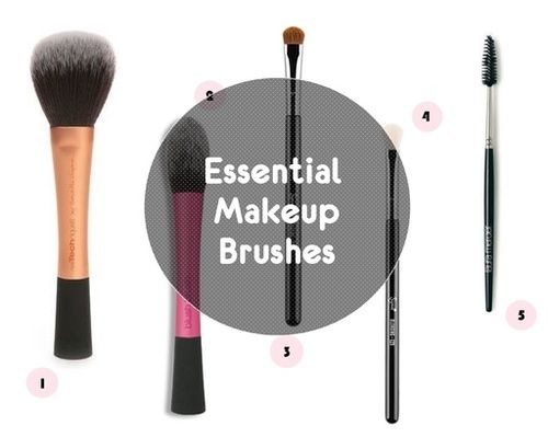Essential Makeup Brushes - Minimalist Collection #makeup #brushes #beauty #makeupbrushes #essentialmakeupbrushes