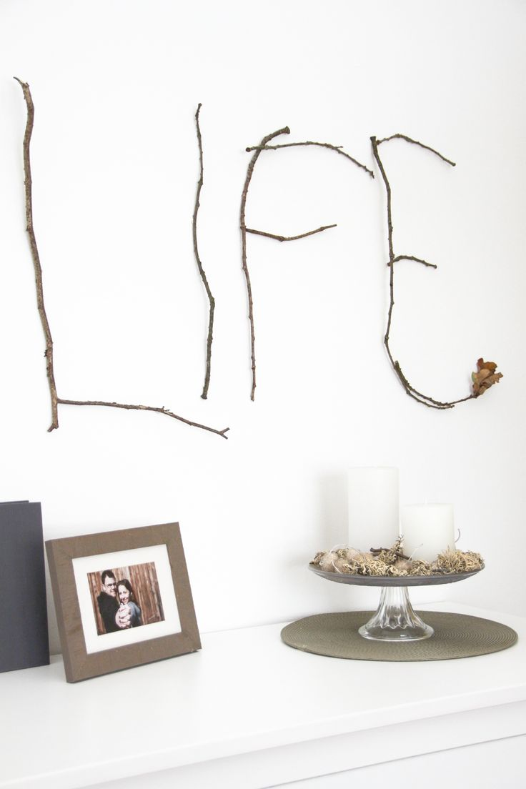 Wandbild aus Zweigen. DIYfrollein.de + Maria Veit