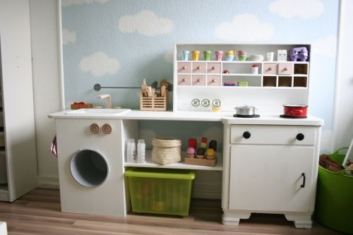 Play kitchen ideas.  No tutorials, but lots of pictures of different kitchens--some repurposed furniture and some adapted from ikea.  Some cute ideas in the pictures!