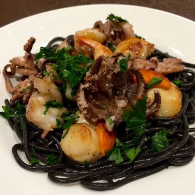 Kerrie Maloney: Squid Ink Pasta with Seafood