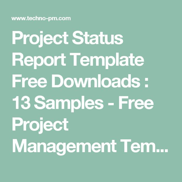 Project Status Report Template Free Downloads  13 Samples - Free - free project status report template
