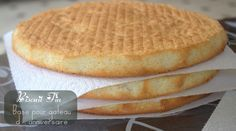 Biscuit fin / base pour gateau d'anniversaire