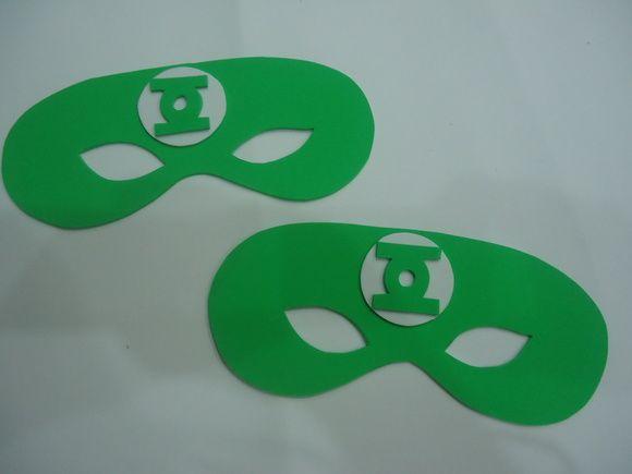 Máscara Lanterna verde-Meio rosto