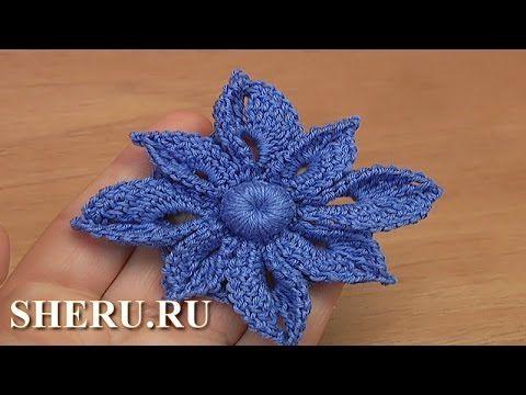 Мастер-класс по вязанию цветка для кружева Урок 38 Crochet Irish Big Flower