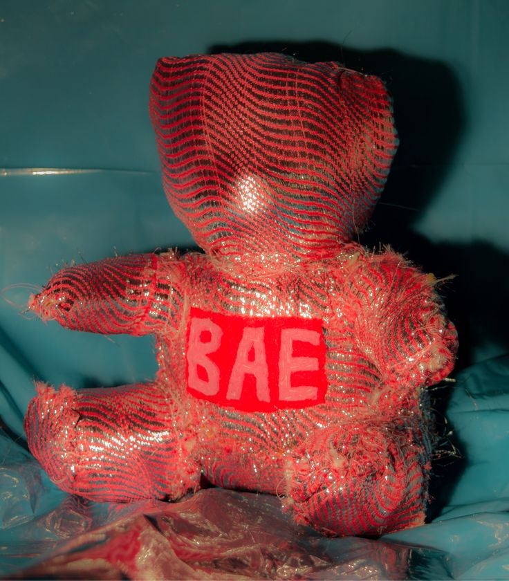 "The Bae. From the textile sculpture series: ""The Labels"". Henrik Haukeland 2017."