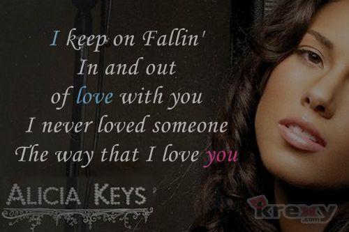 Alicia Keys Lyric Quotes | Alicia Keys Quotes - Fallin' With Lyrics - Alicia Keys | Krexy Living