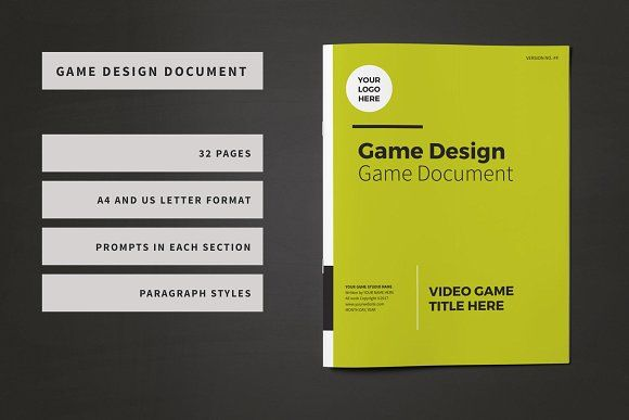 Game Design Document Template by Lauren Hodges Design on @creativemarket