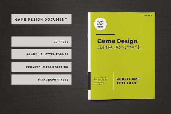 Game Design Document Template by Lauren Hodges Design on @creativemarket