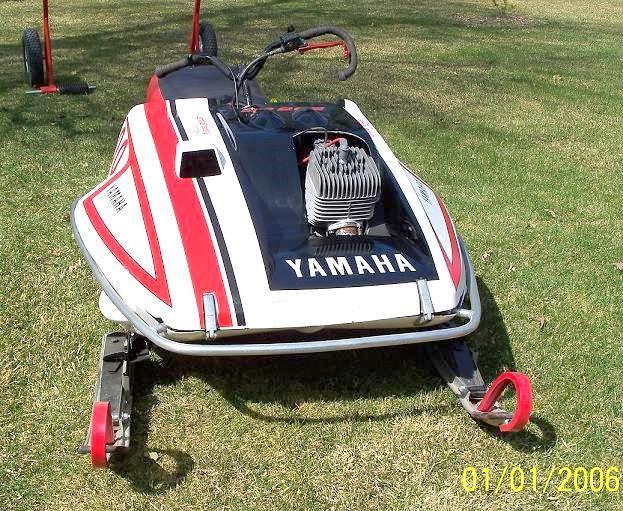 Vintage racing yamaha snowmobile share your