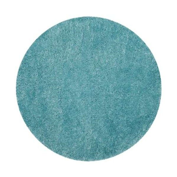 Safavieh PSG800-7R Polar Shag 7' Round Synthetic Power Loomed Solid... ($217) ❤ liked on Polyvore featuring home, rugs, area rugs, light turquoise, pile rug, turquoise area rug, turquoise blue rug, synthetic area rugs and synthetic rugs