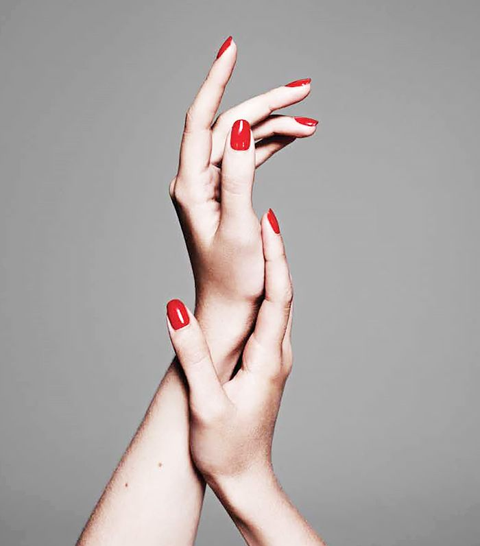 Red Nail Polish On Thumb: 17 Best Ideas About Long Red Nails On Pinterest