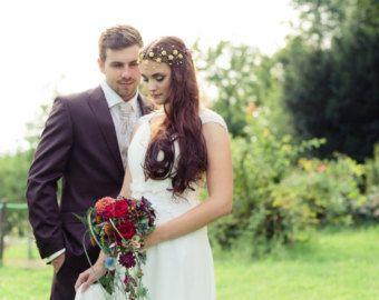 Свадебный венок Золотая корона Веночек Свадебный венец от ArsiArt