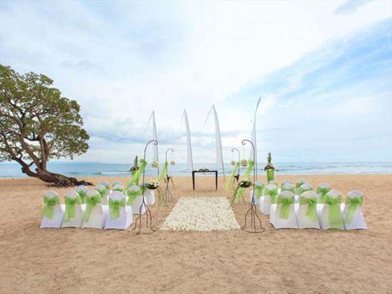 Nikko Bali Resort & Spa, Bali. Serenity Beach wedding
