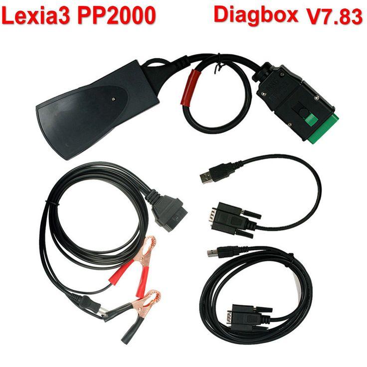 7.83 קצים 3 PP2000 V48 Diagbox כלי אבחון קצים-3 PP2000 V25 עם משלוח חינם Muliti בשפה