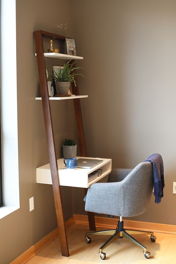 This amazing ladder desk is the perfect workspace for a small space and super reasonably priced at West Elm!