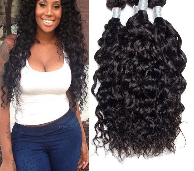 3 Bundles Water Wave Brazilian Hair weave Water Wave Weave