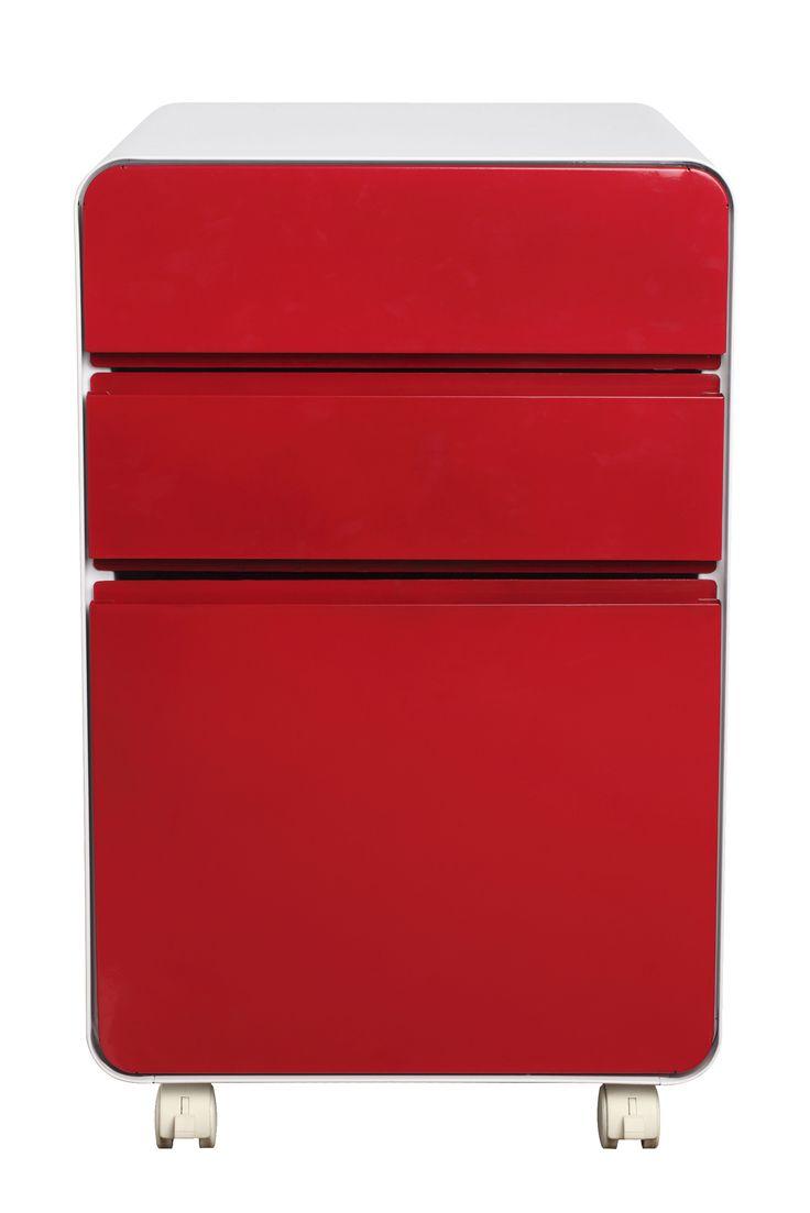 Venturo 3 Drawer Pedestal Red