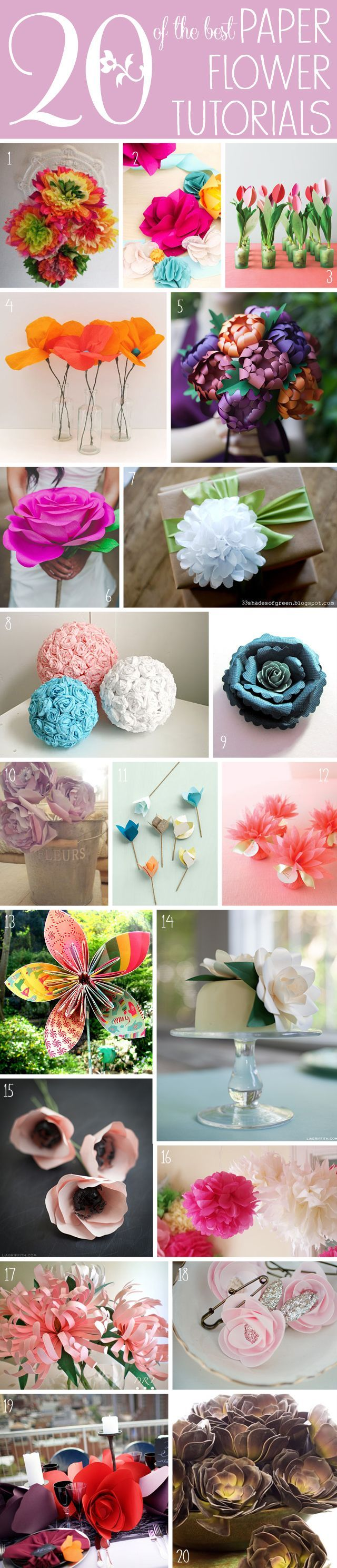 20 of the Best Paper Flower Tutorials