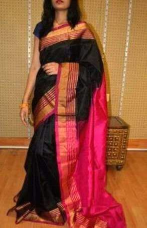 uppada Thin Lines Silk sarees
