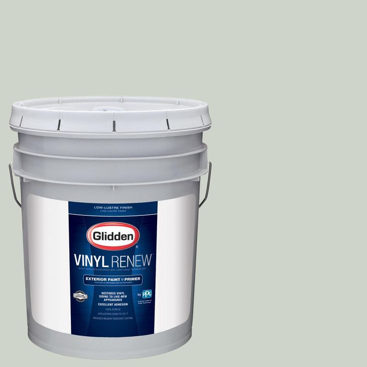 Glidden 5 gal. #HDGCN14U Silver Maple Low-Lustre Exterior Paint with Primer