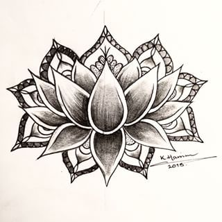 Buddhist Lotus Mandala Tattoo