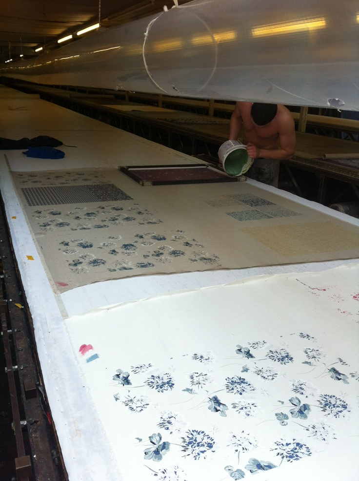 Traditional techniques of screen printing