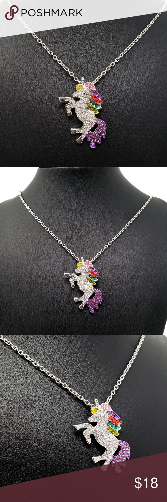 Crystal Rainbow Unicorn Necklace Unicorns ARE real! For