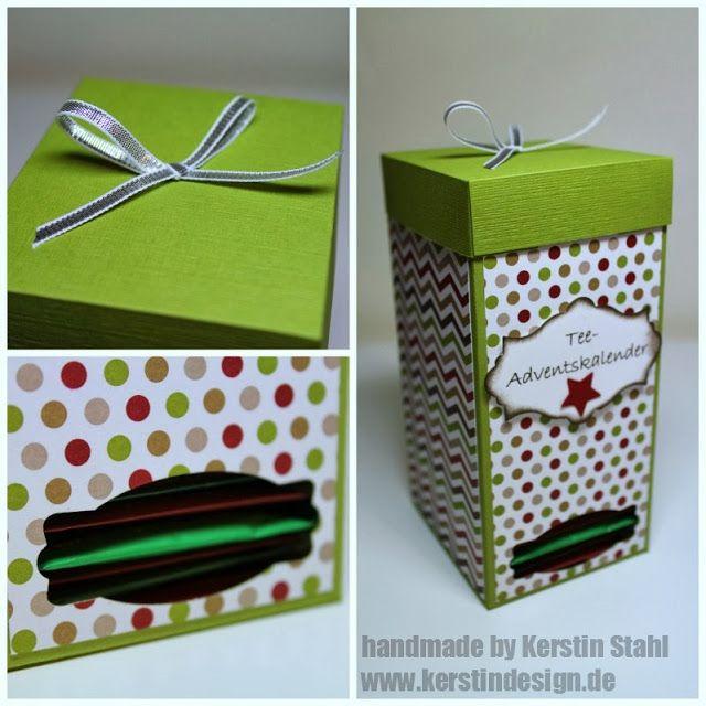 TEE-ADVENTSKALENDER BOX MIT ANLEITUNG - Kerstin Design