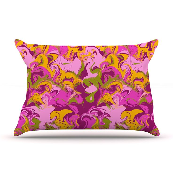 "Anneline Sophia ""Marbleized In Plum"" Pink Purple Pillow Case"