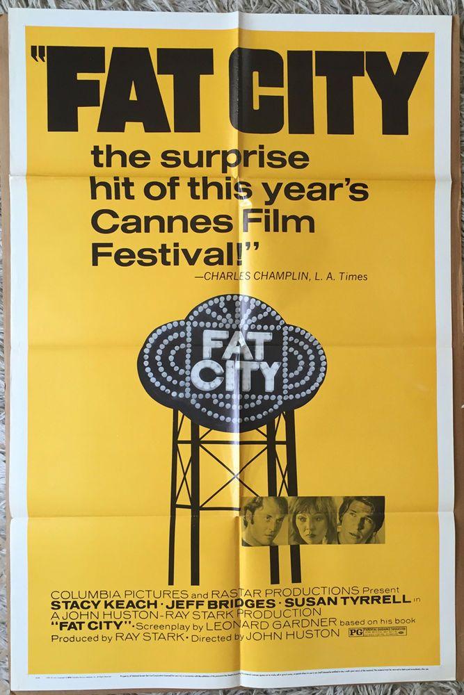 FAT CITY MOVIE POSTER 1 Sheet 1972 ORIGINAL 27x41 STACY KEACH JEFF BRIDGES