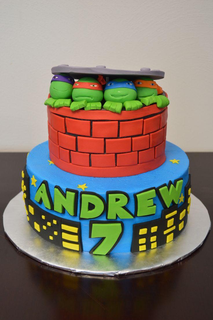 Teenage Mutant Ninja Turtles Cake Ninja Turtle Birthday