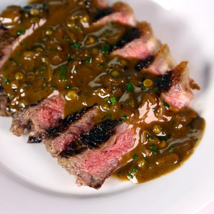 Quick steak au poivre recipe mario batali the chew the chew