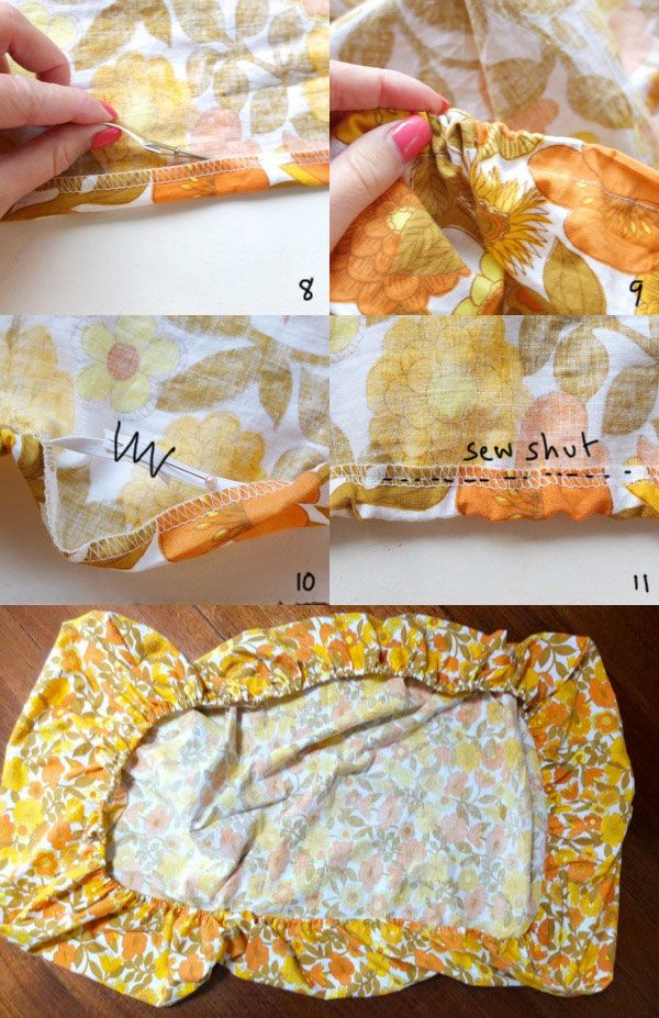 Easy fitted sheet instructions. Make fitted from a flat sheet.
