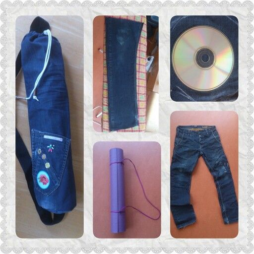 Yoga tas van oude spijkerbroek