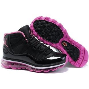 femmes air jordan 11 max fusion black pink