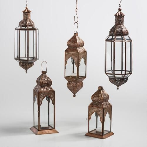 One of my favorite discoveries at WorldMarket.com: Antique Copper Layla Lantern…