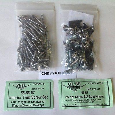 55 56 57 chevy 2 door wagon #window garnish #molding #screws,  View more on the LINK: http://www.zeppy.io/product/gb/2/371095069411/